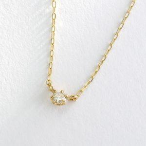 ダイヤモンド一粒石ネックレス63-7713-7871