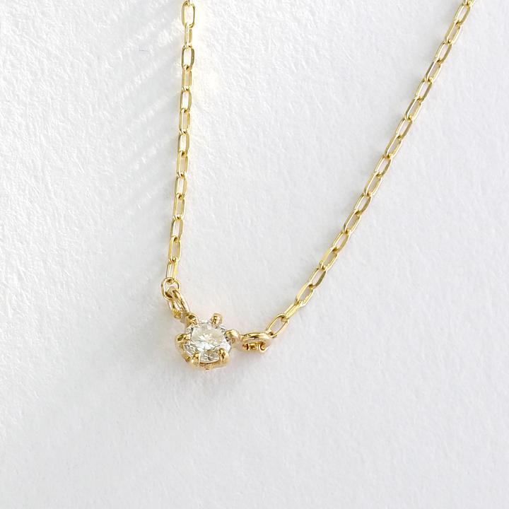 1粒石ダイヤモンドネックレス