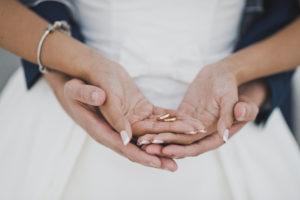 結婚指輪新郎新婦