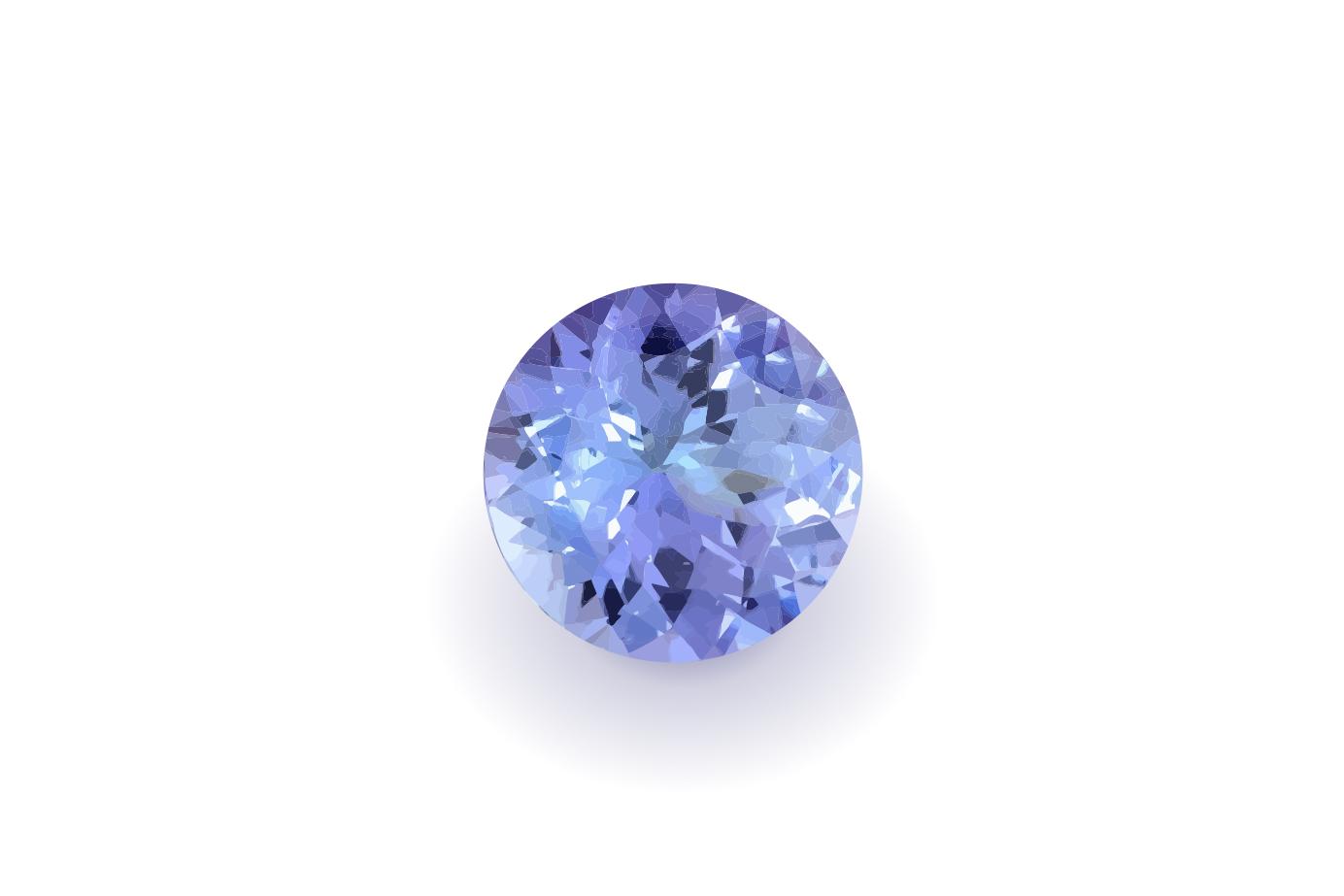 見る角度や光によって結晶の色が変化する12月の誕生石タンザナイト